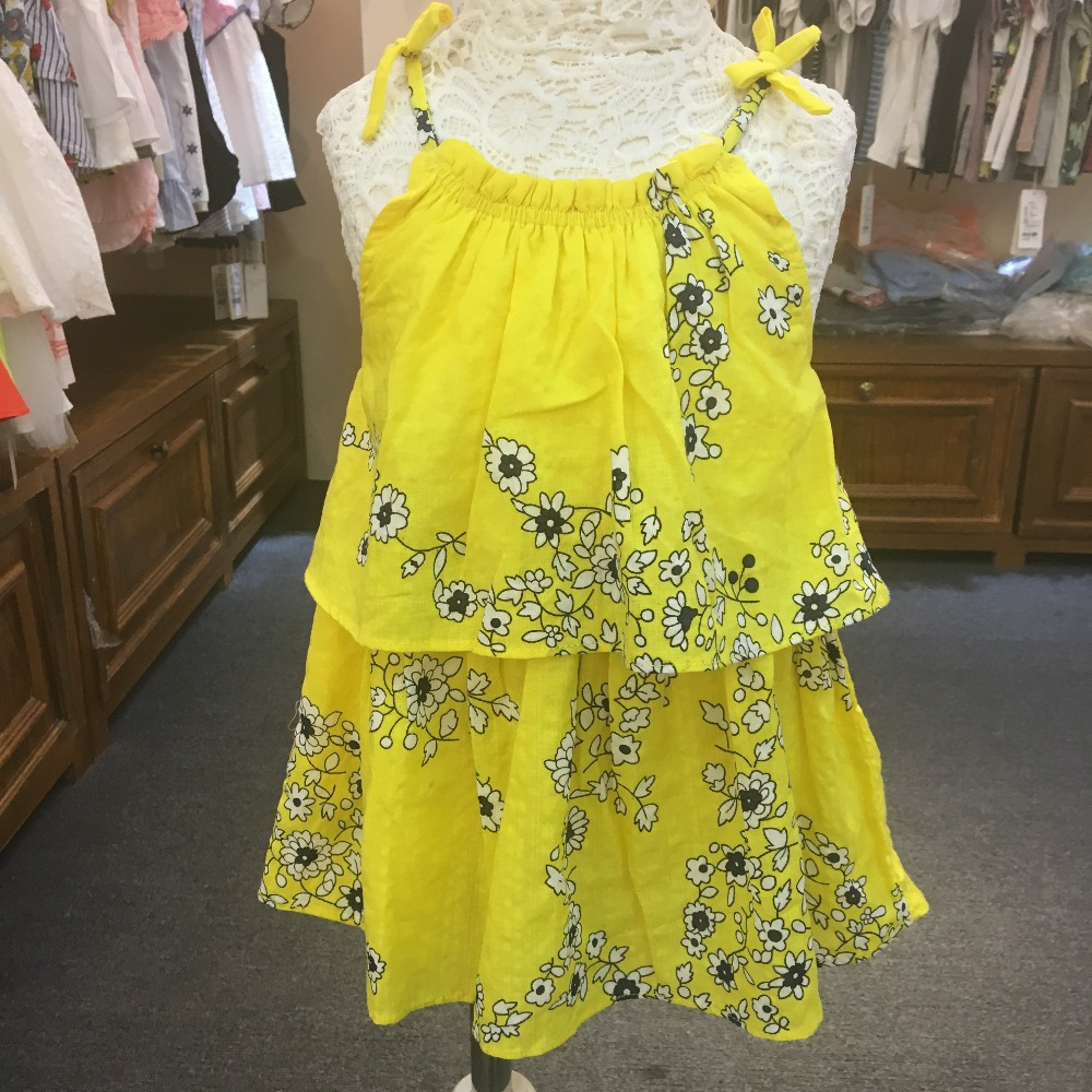 Wholesale 4 pieces/lot Toddlers summer dress for 1 2 3 4 5 ans years old Baby girls children clothes Beach strap flowers dress