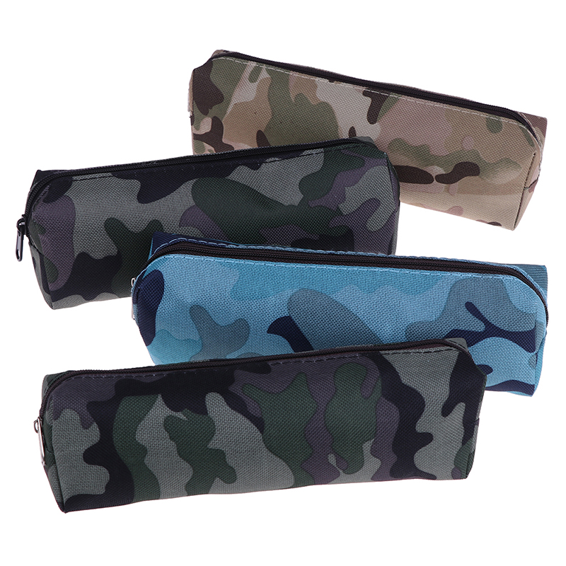 <font><b>Big</b></font> <font><b>Pencil</b></font> <font><b>Case</b></font> Camouflage 4 Color For Boys School Military Style <font><b>Canvas</b></font> <font><b>Pencil</b></font> Bag Stationery School Supplies image
