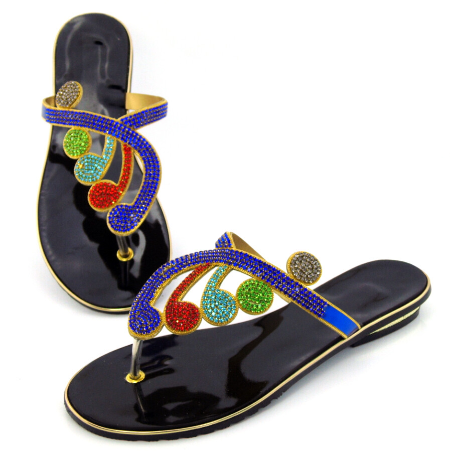 купить doershow Special Design African Slippers Summer High Heels High Quality African Sandals Heels Pumps Free Shipping !DD1-79 дешево