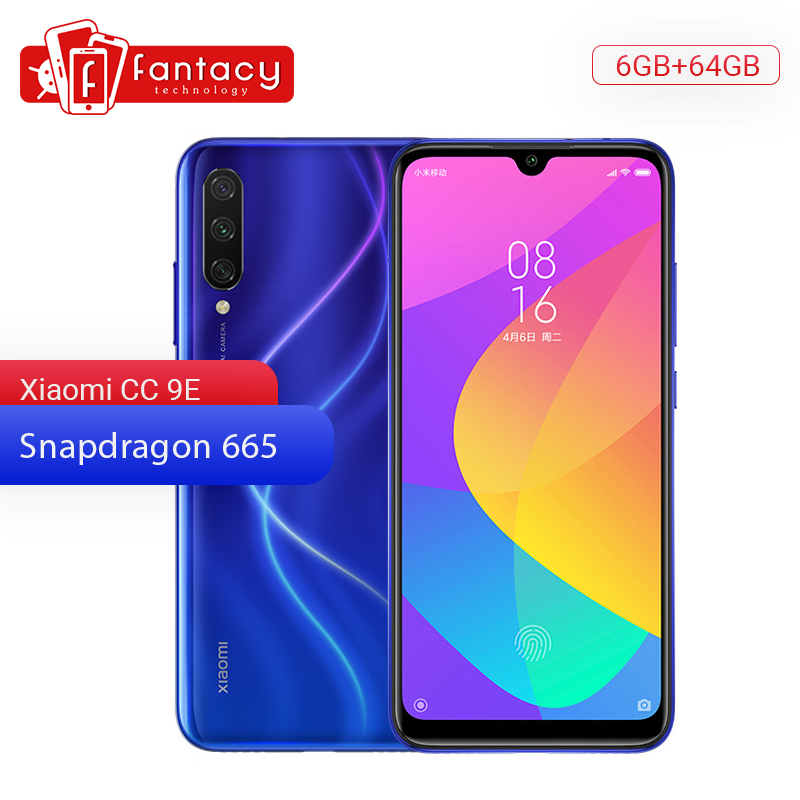 "Original Xiaomi Mi CC9e 9 SE 6GB RAM 64GB ROM Mobile Phone Snapdragon 665 6.088"" AMOLED 48MP Triple Camera 32MP Front Camera"