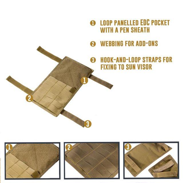 OneTigris Multi-pocket Visor Panel Car Sun Visor Organizer CD Bag Auto Accessories For Travel Kits 4