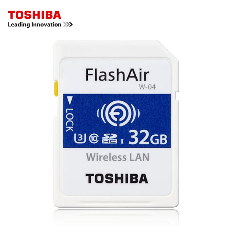 Image 3 - TOSHIBA WiFi Memory Card 32GB 16GB 64GB SD Card 32GB Class 10 U3 FlashAir W 04 Memory Card Flash WiFi SD Card For Digital Camera-in Memory Cards from Computer & Office
