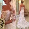 Vestido De Novia 2016 Sweetheart Sleeveless Exposed Boning Beaded Belt Mermaid Court Train Wedding Dresses Bridal Gowns Cheap