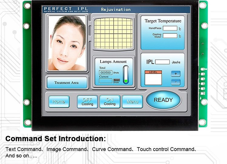 """TFT LCD in sizes ranging from 3.5"""" to 15.1"""" with high intelligent UART port for multipurpose use"""
