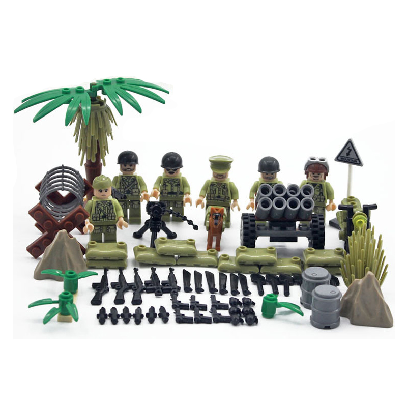 Wholesale World War 2 The Pacifice War Of Hacksaw Ridge US Army Military  Building Blocks Soldier Figure DIY Bricks Toy For Kids