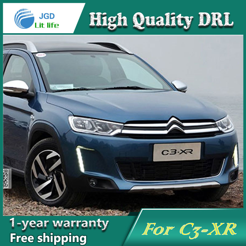 Free shipping !12V 6000k LED DRL Daytime running light case for Citroen C3-XR fog lamp frame Fog light Car styling мужские трусы brand new 10pcs lot r4r