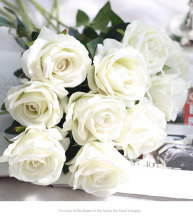 white roses Real touch silk flowers for home decoration artificial peony Wedding decorations Party Decor