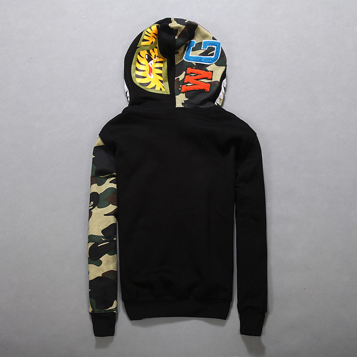c77cd96faf83 Bape Shark Hoodie Camouflage wear Autumn And Winter Clothing Cotton  Sweatshirts Fleece Jacket Bape Shark Hoodie