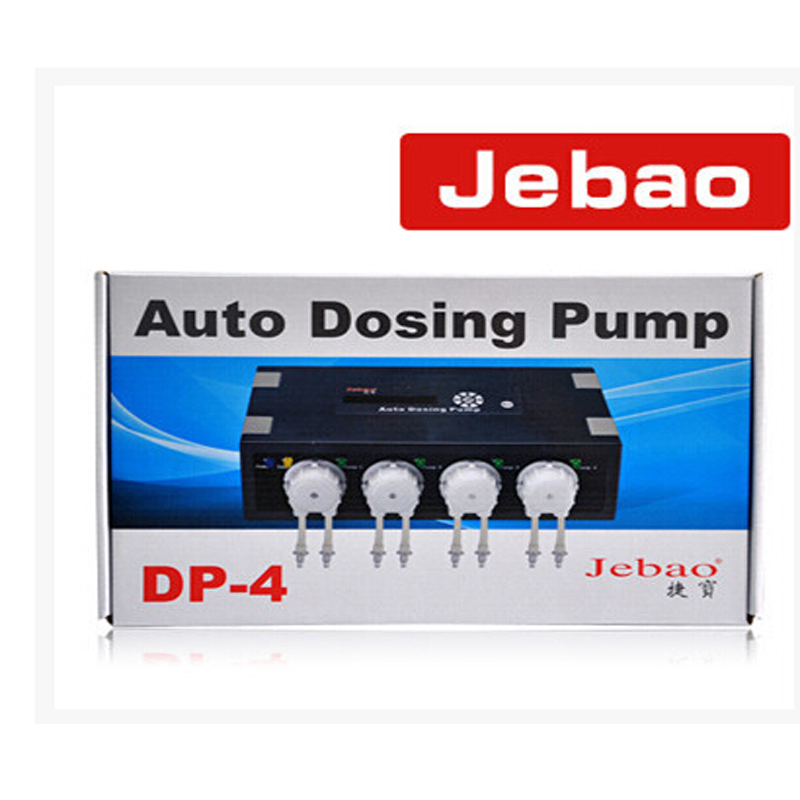 Hot Sale Jebao DP-4 Auto Dosing Pump -Automatic Doser For Reef Aquarium Elements Seawater Fish Tank 23.3x13x6.6cm new auto dosing pump jebao dp 4 for coral reef aquarium 4 pump head for marine aqua 110 240v 50 60hz