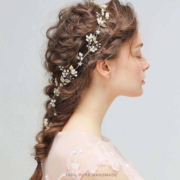 2018 new wedding dress accessories dainty tiny leaf charm headband 2018 new wedding dress accessories dainty tiny leaf charm headband pearl hair vine with hair pin set bridal hair accessories on aliexpress alibaba junglespirit Images