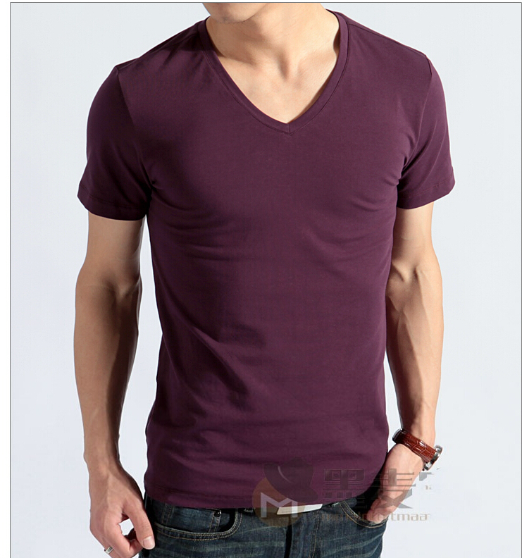 Men modal v neck short sleeve t shirt plus size 5xl 6xl for Modal t shirts mens