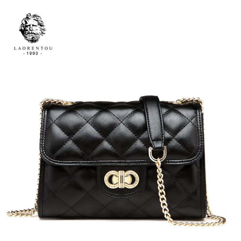 LAORENTOU New women leather bag fashion luxury small chain bag women handbags leather shoulder bag Handbags & Crossbody bags new fashion women leather handbags 2017 luxury designer patchwork shoulder bags small crossbody bag with chain for women girls
