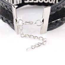 Little Minglou Infinity Love CHICKENS bracelet heart charm leather wrap men bracelets & bangles for women jewelry drop shipping