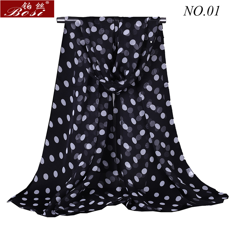 bosi silk   Scarf   dot Fashion Shawls for women   wraps   bandana ladies cape female stoles Floral scarfs Hijab muslim   wrap   wholesale