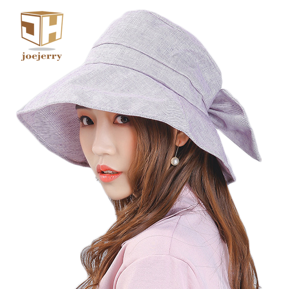 joejerry Plaid Bucket Hat Elegant Cloth Sun Hat Women Summer Hats Sun  Protection Base Cap 2018 New 791a970be37d