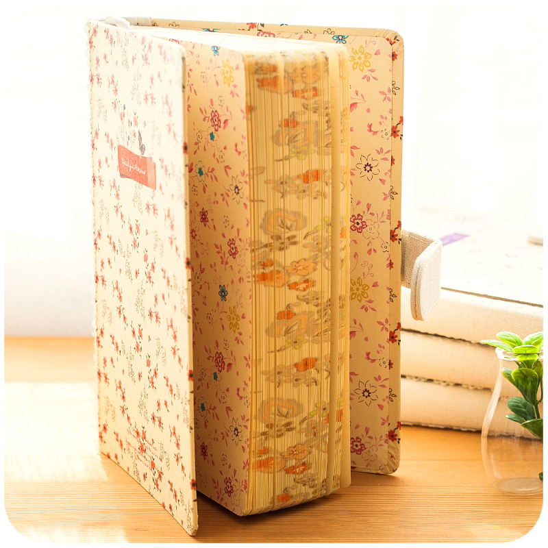 Vintage diary Notepad Golden Valley Lead Magnetic buckle Book Fresh Thick Floras Patterns Blank Page Journal diary Gift Notebook essence d926 110