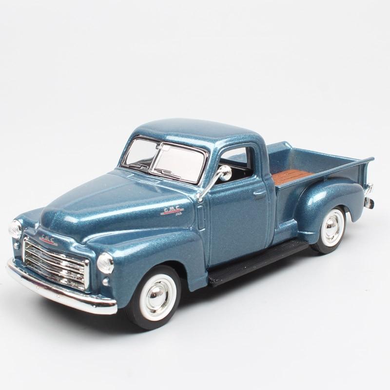 1/43 Escala estrada assinatura clássico GMC Pickup truck light duty furgão 1950 die cast & modelos de carros brinquedos miniaturas os presentes dos meninos