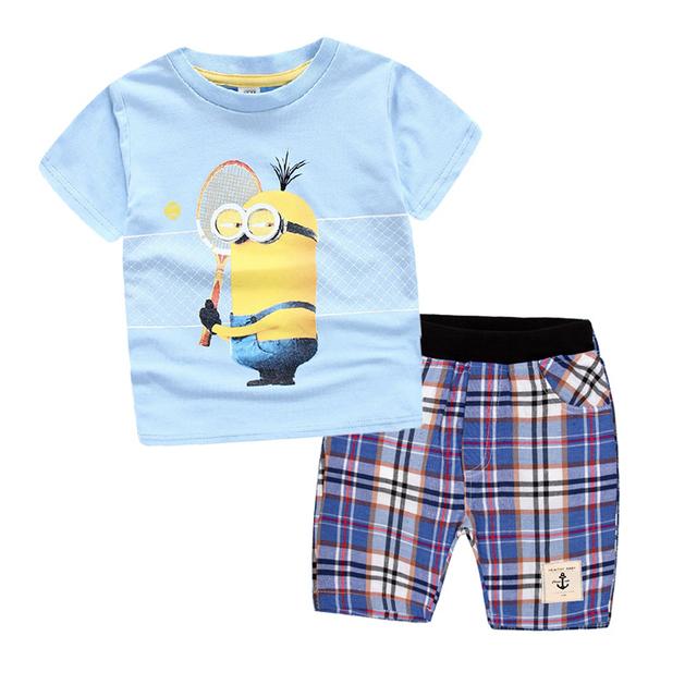 Minions T-Shirt+ Pants 3-10 years Clothing Set