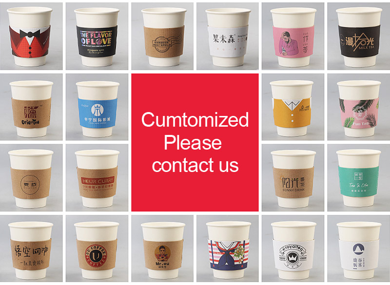50 pcs Disposable Cup sleeve disposable cups merry Christmas Double deck paper coffee tea juice Cup sleeve Anti hot Customized in Disposable Party Tableware from Home Garden
