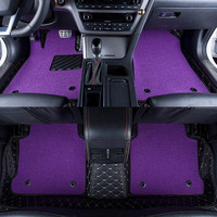Car Floor Mats Covers Top Grade Anti Scratch Fire Resistant Durable Waterproof 6D Leather Mat For
