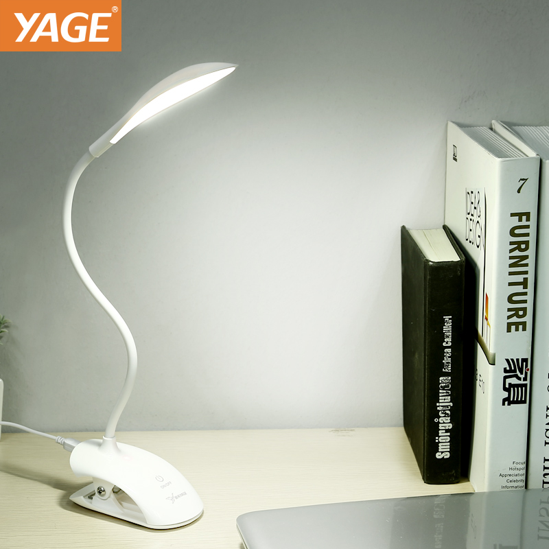 YAGE Desk lamp USB Table Lamp 14 LED Table lamp with Clip Reading Bed Light LED Desk lamp Table Touch on/off Switch YG-5933 yage desk lamp book reading night light colorful lamp for study non limit brightness 34pcs led 3 modes lamp eu usa uk plug