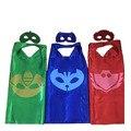 (30 set/lote) nueva de dos capas pj hero capas y máscaras catboy owlette gekko traje suministros fiesta de cumpleaños favores 70*70 cm