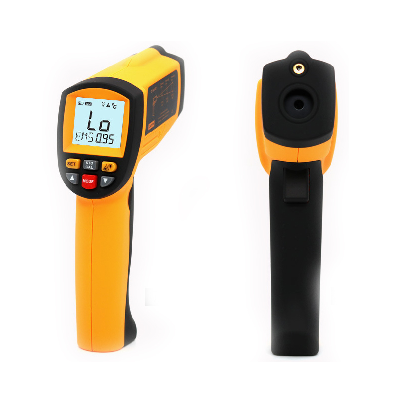 RZ GM1850 2200 Industrial Non Contact LCD display IR Infrared Digital Temperature Gun Thermometer with computer