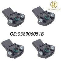 New 4PCS MAP Sensor / Manifold Air Pressure Sensor / Turbo Boost Sensor VW SEAT 038906051B 0281002399