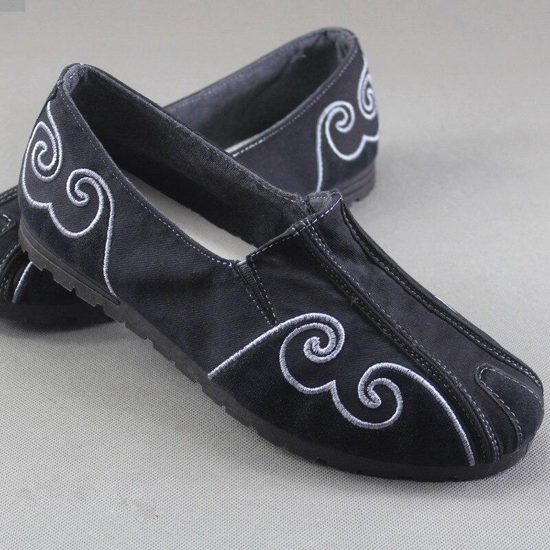 Ethnique Homme Vintage 134 Printemps 134 black 1 Brodé Chaussures Sur Toile grey grey blue Confortables Slip Doux Casual D'été Mocassins Hommes Black 1 OOgwfq
