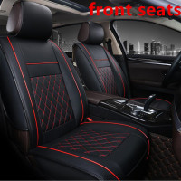 PU Leather Car Seat Cover Full Set Universal Fit Most cars for Peugeot 301 / Citroen Elysee 2007~2016 peugeot 2008 Seat cushion