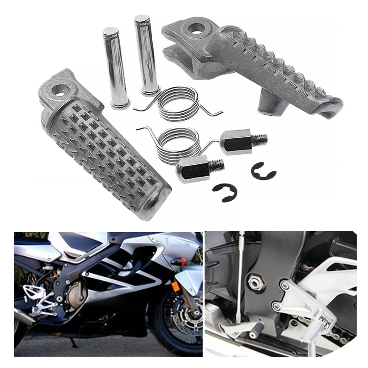 1Pair Motorcycle Aluminum Front Footrest Motorbike Foot Pegs Foot Rests for Honda CBR600RR 2003 2006 CBR1000RR 2004 2014 Chrome in Foot Rests from Automobiles Motorcycles