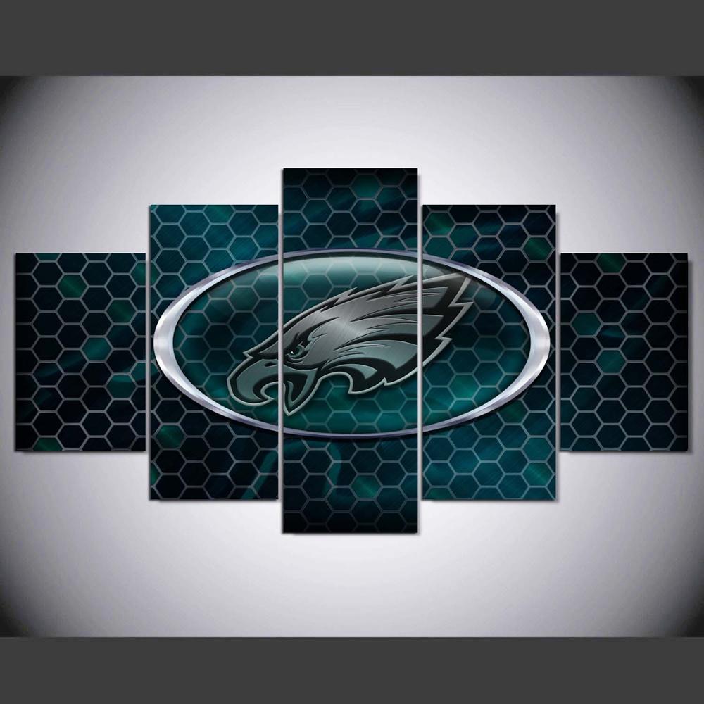 5 Teile/los Philadelphia Eagles Neue Adler Sport Team Logo Ölgemälde ...