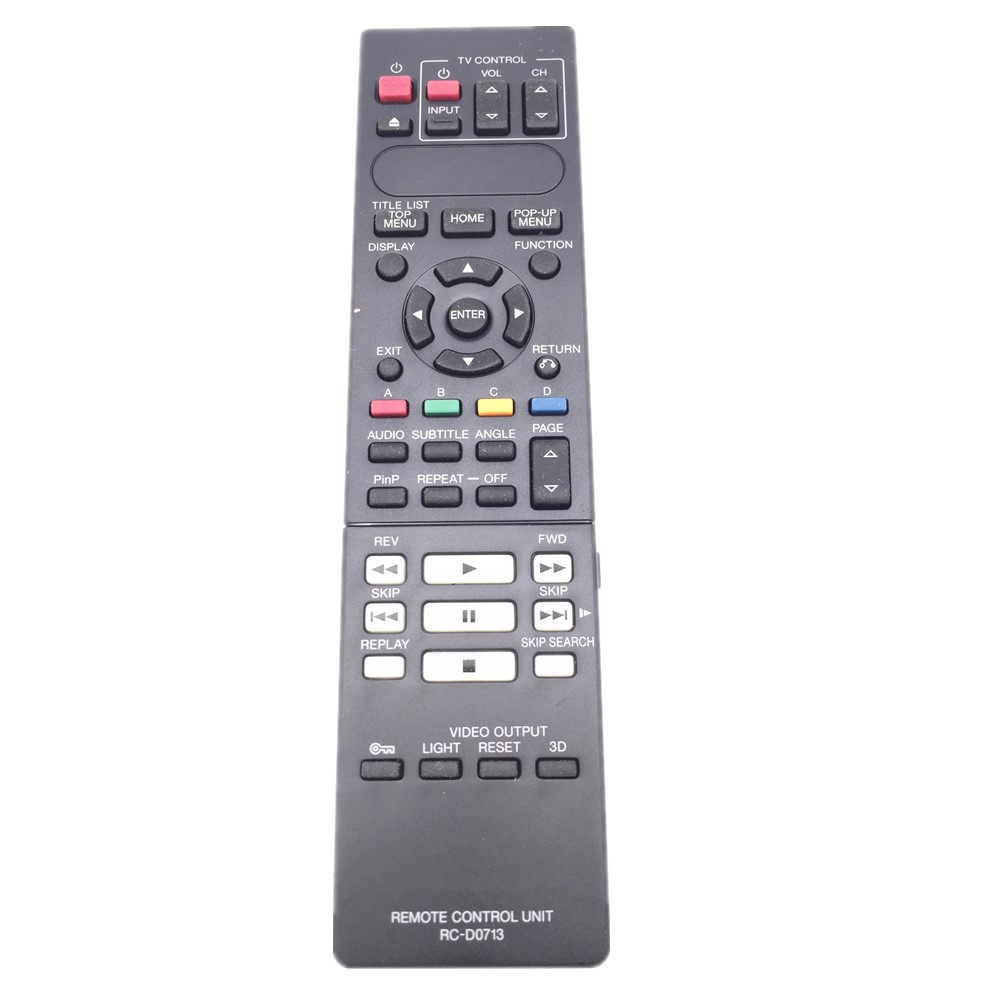 RC-D0713 Remote Control For Kenwood BD-7000 Blu-ray DVD Player original smart intelligent remote control ak59 00172a universal for dvd blu ray player bd f5700 for samsung