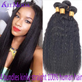 4 Bundles Unprocessed Ali Moda Italian Kinky Straight Hair Italian Virgin Hair Yaki Straight Human hair Weave Bundles Color 1B