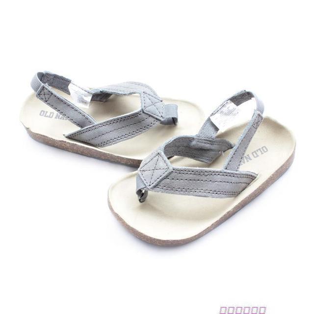 063de2da2f96 New arrival old navy cork suede sandals child slippers elastic strap baby  shoes children shoes