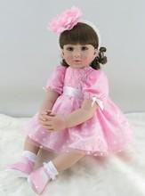 Muñeca reborn de 60 cm con vestido rosa – Colección limitada