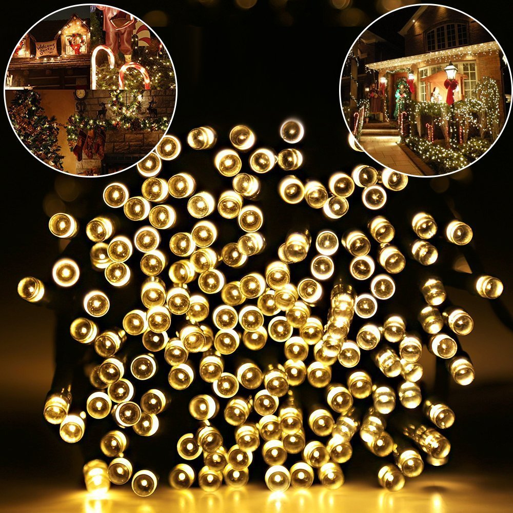 Lights & Lighting Solar String Light 10m/20m Lights Garden Christmas Lights Holiday Outdoor Fairy Lights Waterproof Rgb Whtie Blue Wedding Holiday Relieving Rheumatism And Cold