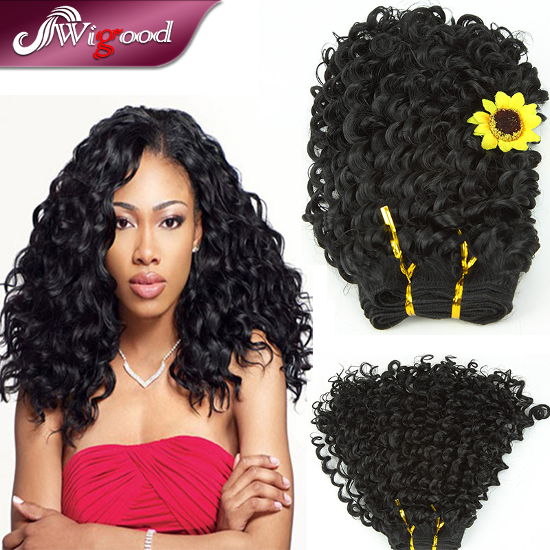 "16""Deep Hair Sprial Curl Hair Extensions Cabelo Curly ...
