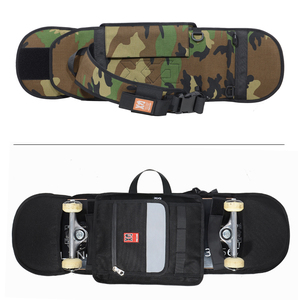 Image 5 - MACKAR 30x23x4cm bolsas para monopatín 1000D Cordura Nylon camuflaje Skate mochilas 900D polieter Oxford negro doble bolsa de balancín