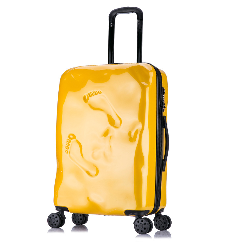 LeTrend Creative Retro Rolling Luggage Spinner Women Trolley Cabin Suitcase Wheels Student Hardside Travel bag Password Trunk