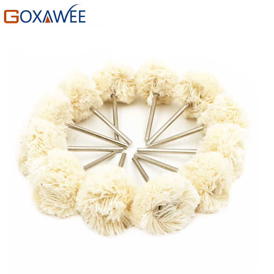 10pcs Abrasive Polishing Wheel Double Cotton Thread Mounted for Dremel Rotary Tools Accessories Abrasive Brush Polishing Brush