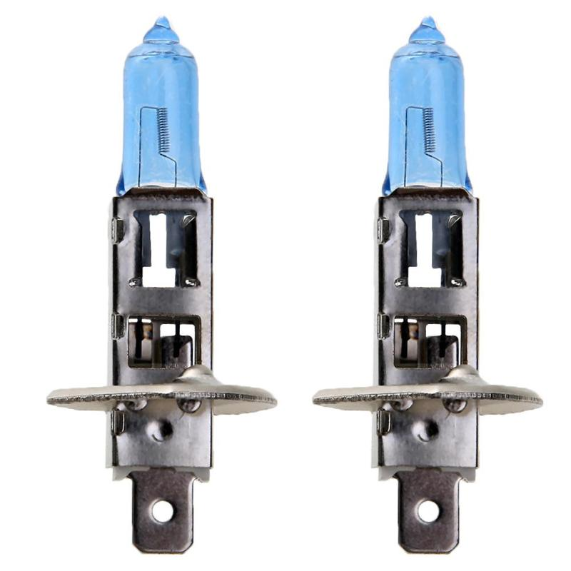 2pcs Car Halogen Xenon Light Bulb High Low Beam H1 12V 55W Super Xenon Blue Headlight Lamp