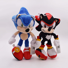 2 Pcs/set 27cm Sonic Black and Blue High Quality Plush Toy Anime Products Gift For Children