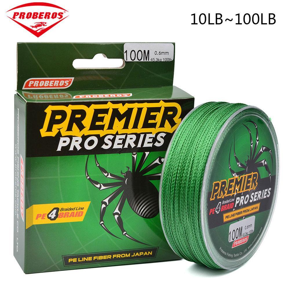 М 100 м зеленый супер сильный провод в оплетке рыболовный линия 10LB-100LB 10,0-0,8 PE Материал Multifilament Карп Рыбалка для рыбы веревка шнур