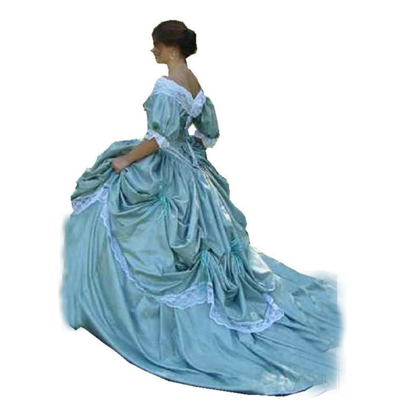Siècle Halloween Toutes Guerre Les Tailles Victorienne Ball Vintage Southern S Personnalisé Civile Costume 1860 Mader Robes Belle 234 ZnwpEx7
