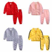 Chándal informal para bebé, Tops de manga larga de algodón suave + Pantalones, ropa para bebé recién nacido de 2 piezas, traje de ropa infantil de moda