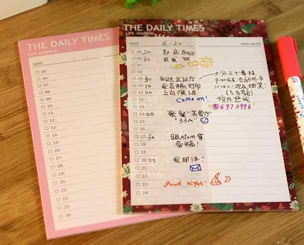 image relating to Diy Daily Planner identified as Adorable floral and red routine day by day/weekly planner sheets 12.6*18.7cm Do-it-yourself agenda 20 sheets