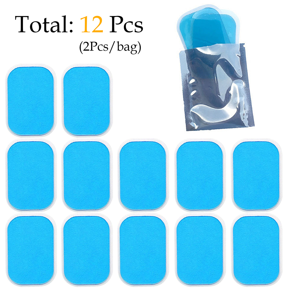 12PCS ABS Hydrogel Pads Gel Sheet Abdominal Muscle Stimulator Trainer Accessories EMS Toning Fitness Gym Home Hydrogel Sticker