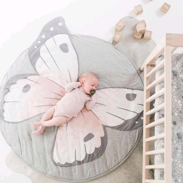 Cute Baby Blanket Cotton Animals Crawling Round Carpet Baby Play Mats Newborn Infant Soft Warm Sleeping Blanket Photography