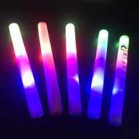 30pcs/lot Glow Sticks for Wedding Birthday Colorful 3 Flashing LED Light Foam Glow Stick LED Party Supplies with 3 Batteries